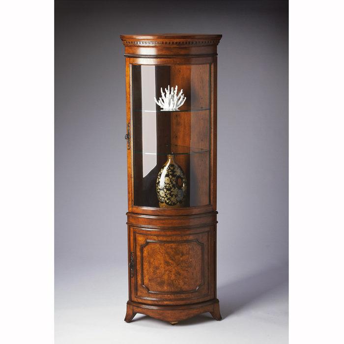 Merveilleux Corner Curio Cabinet