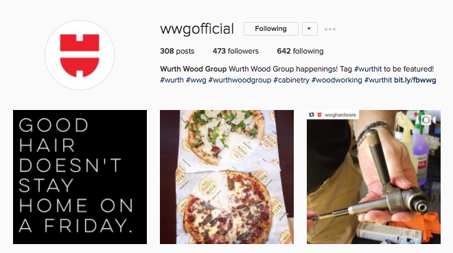 Wurth Wood Group Instagram Accounts